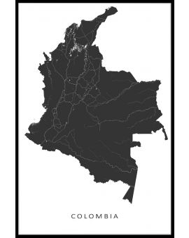 Colombia Karte Poster